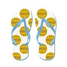 Water Polo Balls Flip Flops by Expressions - CafePress Teri Polo, Custom Flip Flops, Personalized Flip Flops, Polo Team, Rubber Flip Flops, Beach Sandals, Balls, Water, Caribbean
