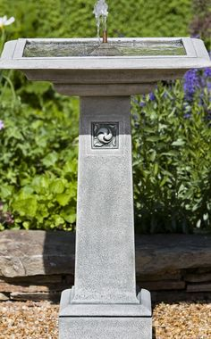 The serene flow of our Hendrick Fountain brings soothing ambience to the heart of your courtyard or garden landscape.
