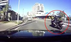 WATCH: Motorcyclist suffers instant karma when THIS happens as he speeds around bend