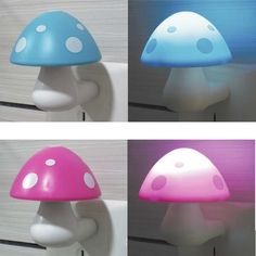 LED Light Control Sensor Mushroom Night Light Energy-saving Lamp