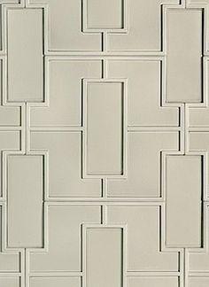 Walker Zanger Studio Moderne Fretwork Pattern Interlocking Field: 18 x Color: Mica Gloss Pop Design, Art Deco Design, Floor Design, Walker Zanger, Wall And Floor Tiles, Wall Tiles, Tile Crafts, 3d Wall Panels, Commercial Interior Design