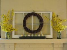Easter Mantle -- bring in the window!