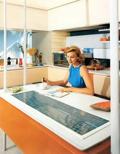 Plastic Fantastic Living -- kitchen, Disneyland's Monsanto House of the Future, early period.