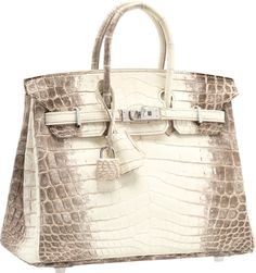hermes scarf authenticity - Herm��s 25cm Matte White Himalayan Nilo Crocodile Birkin Bag with ...