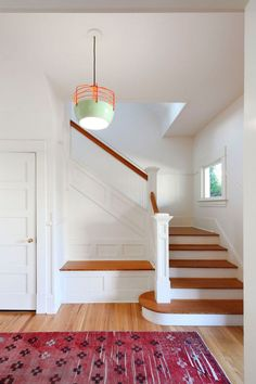 The modern home remodel of a 1914 craftsman in Seattle's Magnolia neighborhood by local design firm, SHED Architecture & Design. Craftsman Remodel, Craftsman Interior, Modern Craftsman, Craftsman Houses, Craftsman Staircase, Rustic Staircase, Home Renovation, Home Remodeling, Home Decor