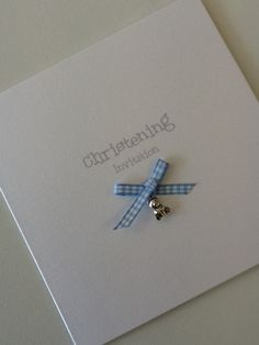 Pretty christening, Naming Day or Baptism invitations done in any colour