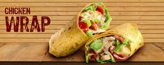 Chicken Wraps Crispy #chicken #cubes with #yummy sauce.
