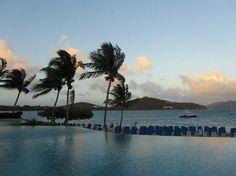 The Ritz-Carlton, St. Thomas: Pool at Sunset