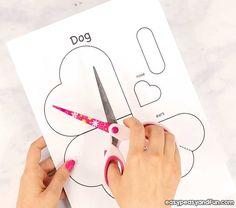 Heart Dog Craft - DIY Valentine's Day Card Idea - Easy Peasy and Fun Valentine Crafts For Kids, Valentine Heart, Valentines Diy, Diy Crafts For Kids, Holiday Crafts, Boy Cards, Dog Crafts, Valentine's Day Diy, Easy Peasy