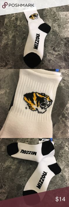 Mizzou Tigers socks 🐯 Brand new. Crew style. Thick warm material. Size medium. See 5th photo for sizing. Can be men's or women's. missouri tigers Other