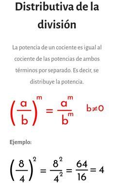Descubre más propiedades de la #potenciación en el sitio web Algebra, Precalculus, Bilingual Education, Math Notebooks, Basic Math, Play To Learn, Math Resources, Teaching Math, Mathematics