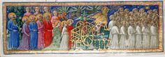 The Procession - Dante Alighieri TitleDivina Commedia OriginItaly, N. (Tuscany, Siena?) Datebetween 1444 and c. 1450 LanguageItalian    http://www.bl.uk/catalogues/illuminatedmanuscripts/record.asp?MSID=6468&CollID=58&NStart=36