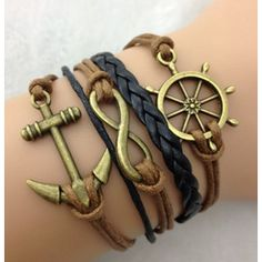 FallFor Anchor, Infinity, and Helm Bracelet
