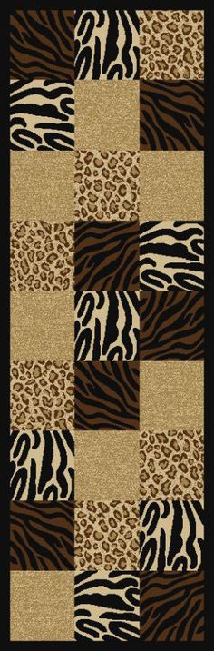 Ottomanson Ottohome Contemporary Animal Patchwork Design Runner Rug OTH2189 Multi-Color Rug. Rugs USA $99 Sale! Area rug, rug, carpet, design, style, home decor, interior design, pattern, trends, home, statement, fall,design, autumn, cozy, sale, discount, interiors, house, free shipping, Halloween, fall decorations, fall crafts, fall décor, great winter, winter, warm, furniture, chair, art.