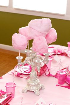Cotton candy centerpiece