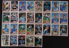 1989 Topps Texas Rangers Team Set of 36 Baseball Cards With Traded #TexasRangers