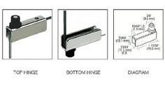 "CRL Chrome Standard Mount Glass Door Hinges - Pair by CRL. $5.50. Precision Machined and Finished for Quality Appearance Designed for 3/16"" (5 mm) to 1/4"" (6 mm) Glass CRL Standard Mount Glass Door Hinges are mounted into drilled holes in the cabinet frame. Set screws secure the glass in the hinge openings. Includes nylon bushings for insertion into drilled holes in the cabinet. Color: Chrome Minimum Order: 1 Pair Use CRL Drill Jig (Cat. No. GDH5JIG) for a quick and easy inst..."