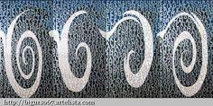 "Fado ""Lagrima"" / Fado ""Tear"". Polyptych (4 parts). Acrylic on linen. 400 x 200 cm. By Agostinho Bento de Oliveira"
