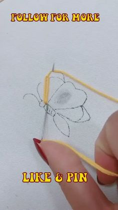 Hand Embroidery Patterns Flowers, Embroidery Stitches Tutorial, Creative Embroidery, Simple Embroidery, Hand Embroidery Stitches, Embroidery Techniques, Diy Sewing Projects, Sewing Crafts, Diy Crafts