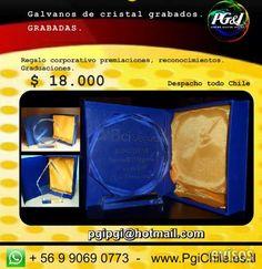 galvanos de cristal grabados,premiaciones,reconocimientos,cursos,trofeos  whatsapp  ( + 56 9 9069 07 73 )  MAIL : pgip ..  http://maipu.evisos.cl/galvanos-de-cristal-id-493905