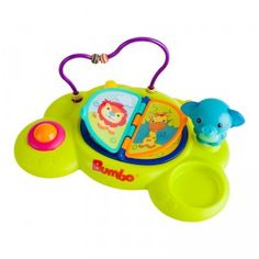An activity center for baby that can be suctioned onto any smooth surface.
