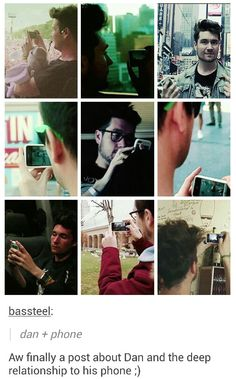 Dan's Status: In a Relationship; With: His phone