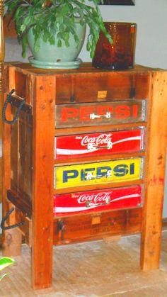 Repurposed Vintage Soda Crates