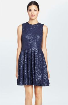Cynthia Steffe 'Sabella' Sequin Fit & Flare Dress available at #Nordstrom