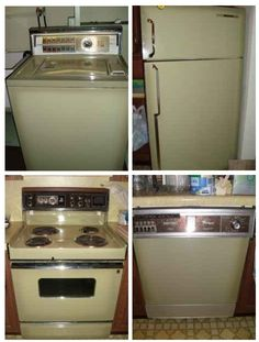"""Avocado appliances--my grandma had avocado...we had """"harvest gold"""" applicances! :)"""