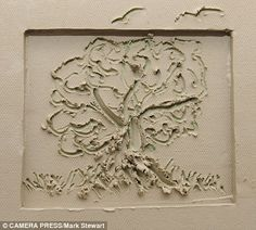 Art attack: The picture of a tree created in clay by the Duchess of Cambridge. This will be hung in the foyer of the hospice in Malaysia- the countrys's largest centre for the care of the terminally ill, on the south side of Kuala Lumpur.  .......September 13, 2012