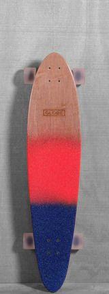"Globe 40"" Pinner Longboard - Red/Navy Spray"