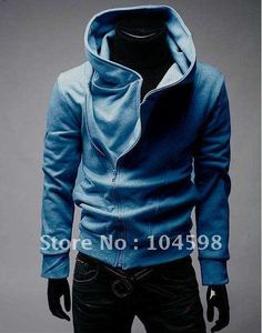 This high collared hoodie is classic