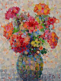 Angelo Franco,Artist,Virginia Wilderness,Hudson River Scenes,Floral Bouquets,Abstract Still Lifes,Abstract Florals,Landscapes,Portraits,Hudson Valley Paintings,Oil Paintings,New York Artist,Impressionism,Pointillism,Modern Art,Colorist,Dots Paintings