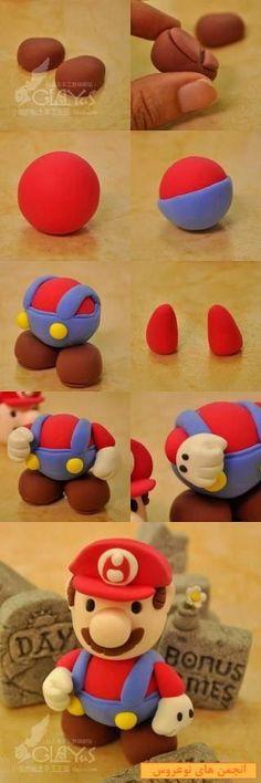 Super Mario fondant topper