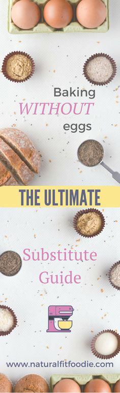 Baking without eggs is challenging especially if you're baking gluten free, dairy free. Try these substitutes for perfectly baked goods every time!