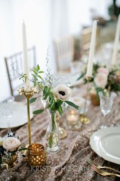 Romantique Glam Tablescape  See more here: http://cedarwoodweddings.com/2014/07/romantique-classic-vintage-design-inspiration/