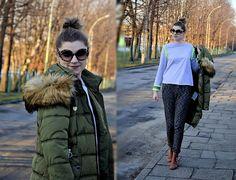 Kamila Z - Zaful Coat, Romwe Shirt, Amiclubwear Shoes, Reserved Pants, Romwe Sunglasses - Cozy look   LOOKBOOK