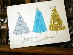 Diy: Tarjetas de Árboles de Navidad con masking tape : x4duros.com