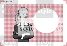 Greeting card with businessman woman – place your custom text
