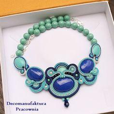 Ewa Jankowska - biżuteria sutasz: Adriatyk - soutache necklace