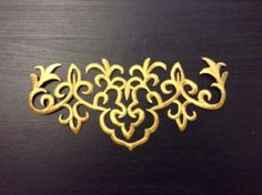 Gold metallic embroidery patch lace applique motif #irish #dance #costume,  View more on the LINK: http://www.zeppy.io/product/gb/2/201634348514/