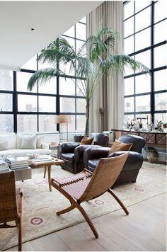 living room, high ceilings