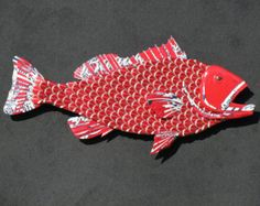 Bottle Cap Wall Art bottlecap fish metal wall art - large mouth bass | fish art, cap