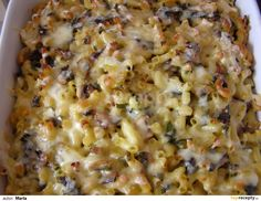 Těstoviny se žampiony a medvědím česnekem: Šampiňóny pokrájame a udusíme na troche oleja a cibuľke, okoreníme. Cestoviny, napr. mašličky uvaríme na skus v slanej vode. Vajcia rozšľaháme v... Pasta Recipes, Cooking Recipes, Risotto, Macaroni And Cheese, Oatmeal, Breakfast, Ethnic Recipes, Food, Bulgur