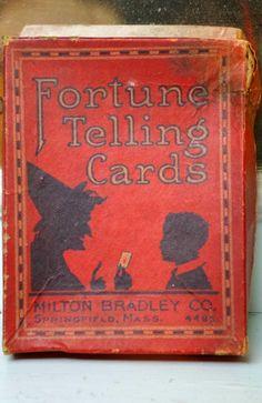 RARE Vintage Antique Milton Bradley Fortune Telling Game Witch Halloween | eBay