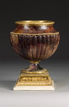 A large century gilt bronze mounted Blue John Vase, Vases, Urn Vase, Antique Interior, Antique Furniture, Decoration, Art Decor, John Stones, Modern Contemporary Homes, Granite Stone