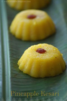 Pineapple Kesari #Recipe - An easy Indian dessert made with pineapple and semolina... http://www.blendwithspices.com/2014/06/pineapple-kesari.html #indianfood #cooking #halwa #pudding #dessertrecipes #sweets #foodblog #foodphotography #recipes