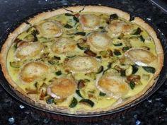 Tarte aux courgettes, jambon d'aoste et chèvre (ig bas), Recette Ptitchef