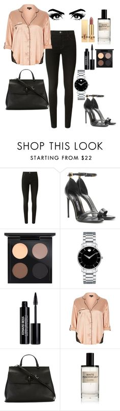 """""""Untitled #81"""" by deslightwood ❤ liked on Polyvore featuring J Brand, Tom Ford, MAC Cosmetics, Movado, Edward Bess, River Island, Gucci, D.S. & DURGA and Yves Saint Laurent"""