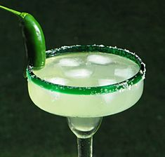 Triple Sec 2 oz. Jalapeno Margarita, Margarita Mix, Fun Cocktails, Cocktail Drinks, Tequila, Non Alcoholic Drinks, Beverages, Coarse Salt, Jello Shots